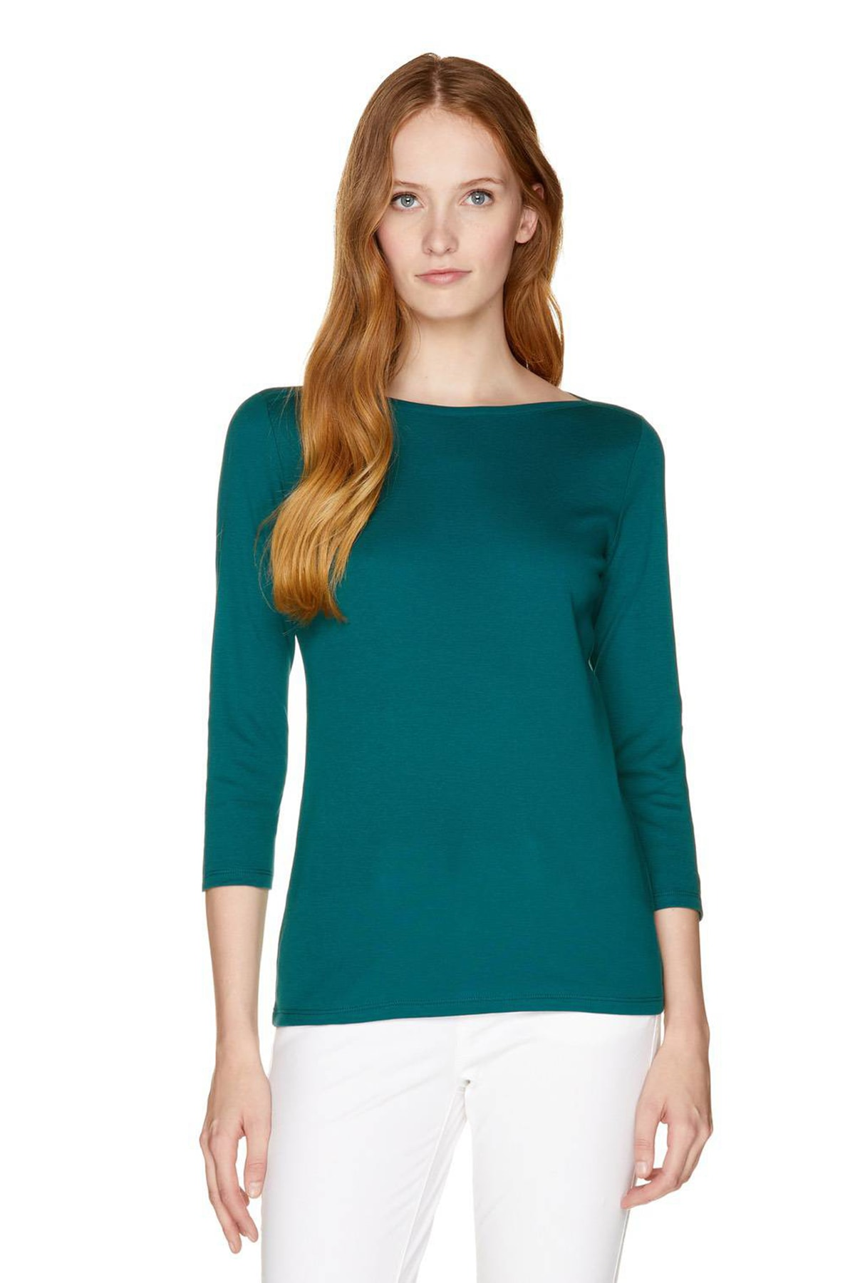 Benetton Kadın Truvakar Kol Basic T-shirt 311933GA2E10C3