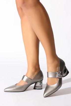 Rovigo Platin Kadın Klasik Topuklu Ayakkabı 0386441-01