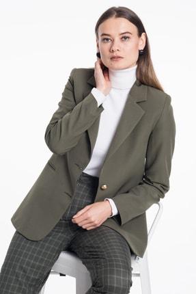 Pitti Kadın Haki Ceket Gold Düğmeli 60359