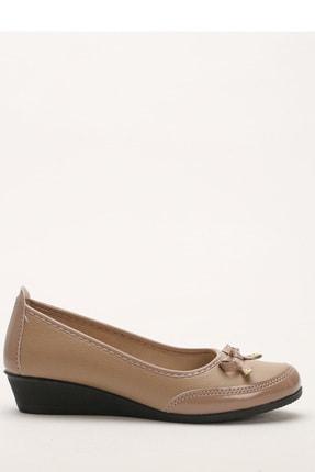 Ayakkabı Modası Vizon Kadın Babet M5003-19-111002R