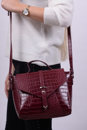 Housebags Bordo Kadın Omuz Çantası 156