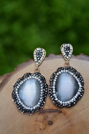 Stoneage Özel Tasarım Kristal Bayan Küpe