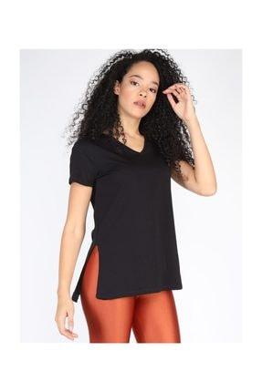 Twister Jeans Kadın Tshırt Bts V Yaka Basic Tshirt 3000 Sıyah