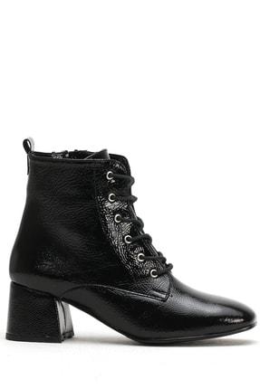 Ayakkabı Modası Siyah Rugan  Kadın Bot 5007-20-000350
