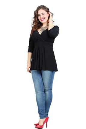 ANGELINO Kadın Siyah Esnek Tunik KL8004