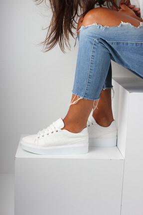 İnan Ayakkabı Beyaz Kadın Spor Ayakkabı Y67