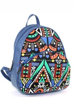 Housebags Mavi Çok Renkli Mavi Kadın Sırt Çantası  137