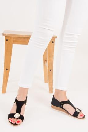 Fox Siyah Kadın Dolgu Topuklu Ayakkabı F490098002