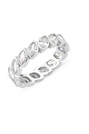 Tevuli Kadın Gümüş 925 Ayar Mekik Zirkon Taşlı Tamtur Yüzük R86410
