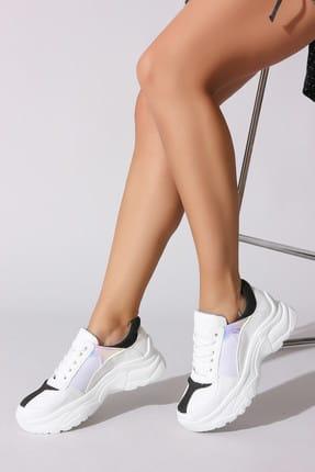 Rovigo Beyaz Siyah Kadın Sneaker 730101-03