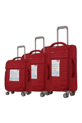 ITLUGGAGE Kırmızı Unisex 3'lü Valiz Seti 1247589005541