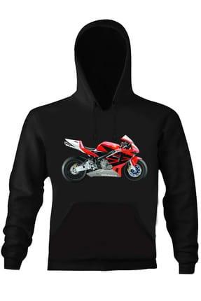 Art T-shirt HONDA MOTORCYCLE UNISEX KAPÜŞONLU SWEATHIRT - ARTRND02219M