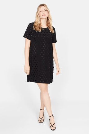 Mango Kadın Siyah Puantiyeli Elbise 51083779