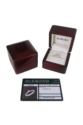 Allegro Gold Pırlanta Allegro 0,10 Karat  F Color Pırlanta Tektaş Yüzük AP00001