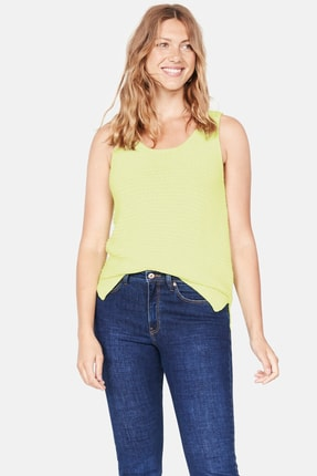 Mango Kadın Neon Sarı Flor Üst 53071060