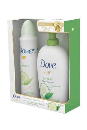 Dove Kadın Deodorant Sprey Go Fresh 150 ml +  Sıvı Sabun Fresh 500 ml