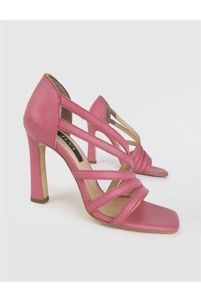 İlvi Kadın Pembe Hero Hakiki Deri Topuklu Sandalet