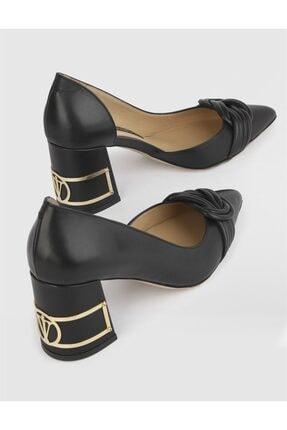 İlvi Kadın Siyah Topuklu Ayakkabı