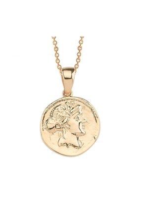 Altın Sepeti Rose Altın Antik Para Kolye
