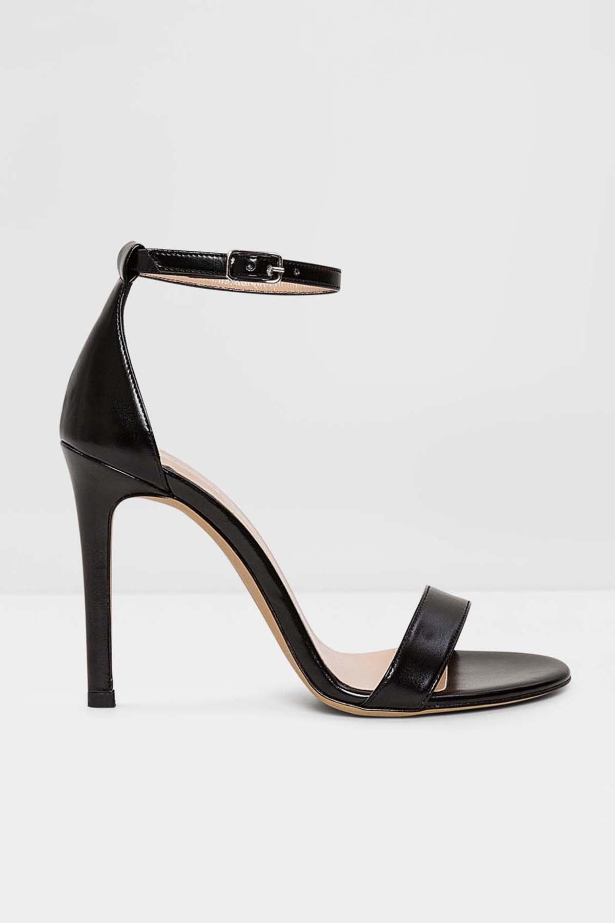 Aldo Paola-tr - Siyah Kadın Abiye Topuklu Sandalet