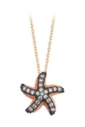 Ejoya 14 Ayar Altın Deniz Yıldızı Taşlı Kolye 83302