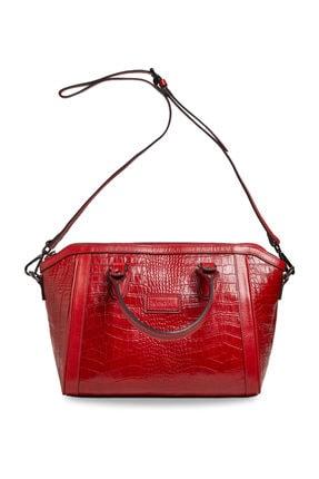Deriderim Kırmızı Kadın Deri Çanta