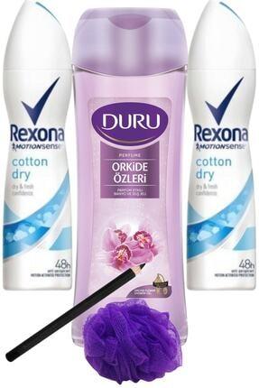 Rexona Cotton Dry Kadın Deo 150 Ml + Duru Orkide Duş Jeli 450ml/set 5 Parça