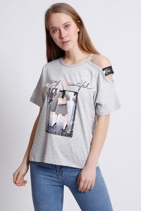 Deppoist Omuz Detay T-shirt