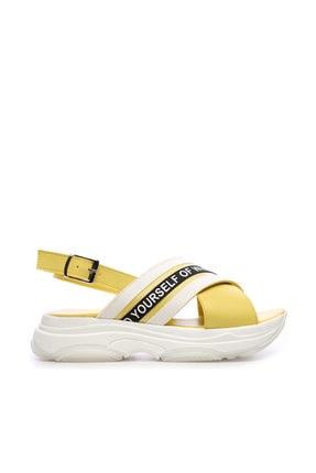 Kemal Tanca Sarı Kadın Vegan  Sarı Sandalet 212 MDL 2 BN SNDLT Y19