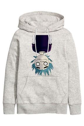 Art T-shirt Kadın Gri Sweatshirt - ARTRND02175W