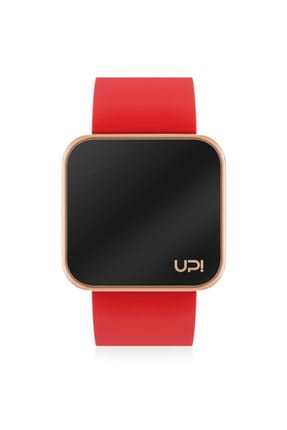 UpWatch Unisex Kol Saati 2UPWS2018522 TOUCH SHINY ROSE GOLD AND RED STRAP