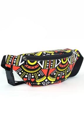 Housebags Siyah Çok Renkli Kadın Bel Çantası  139