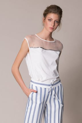 Gizia Kadın Beyaz Spor Bluz M18Y2W02513BC
