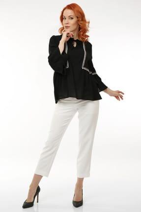 Pitti Kadın Siyah Şile Bezi Bluz 10154