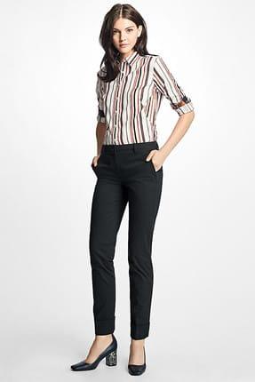 Brooks Brothers Kadın Siyah Chino Pantolon