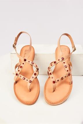 İnci Hakiki Deri Turuncu Kadın Sandalet 120130005448