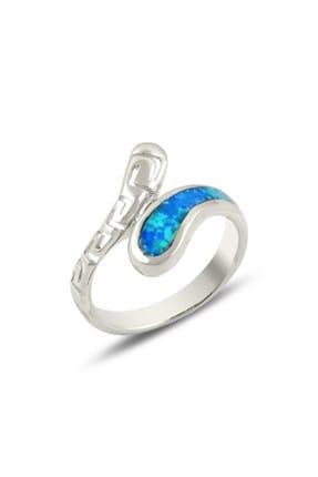 Tevuli Kadın Gümüş 925 Ayar Opal Taşlı Yüzük R14170