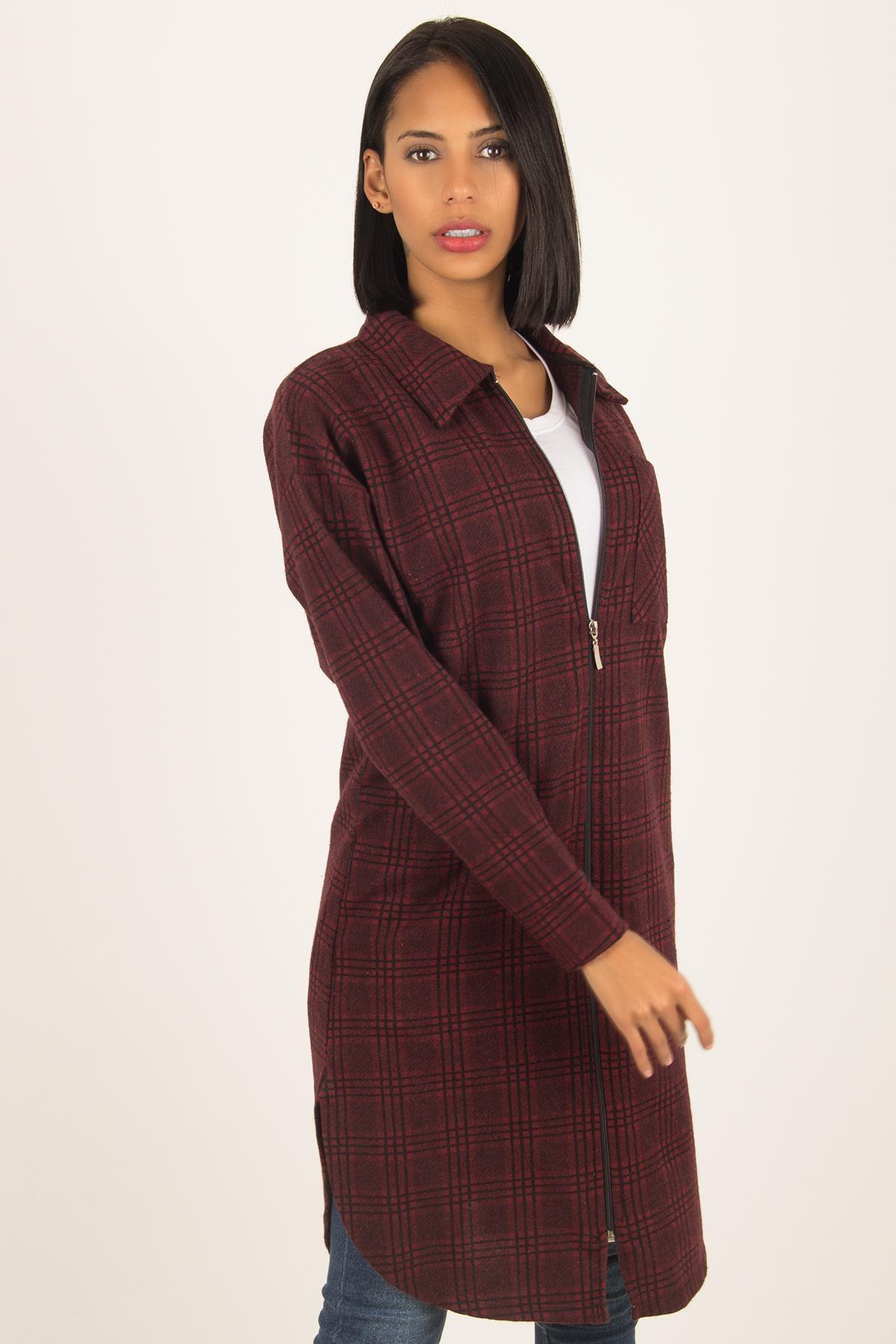 Morpile Kadın Bordo Tunik Elbise ELB1563