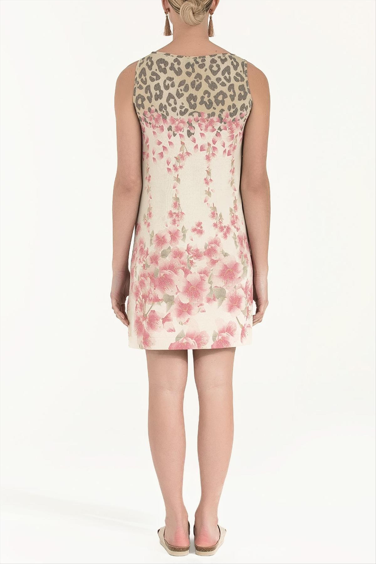 Societa Kadın Desenli Triko Elbise Taş 28470