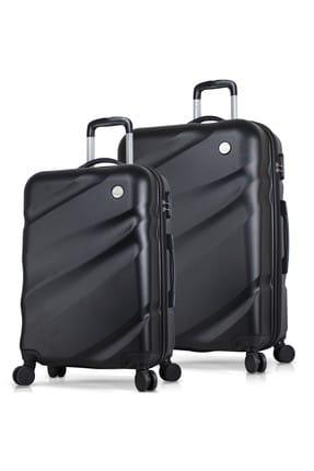 My Valice Unisex Elegance Abs 2'li Valiz Seti (Orta ve Büyük)  Siyah MV5756