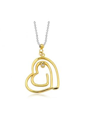 Altın Sepeti Pırlantalı Tek Aşk Kolyesi