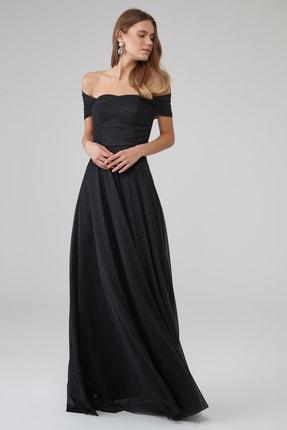 Keikei Kadın Siyah Tül Kolsuz Uzun Elbise 2197271