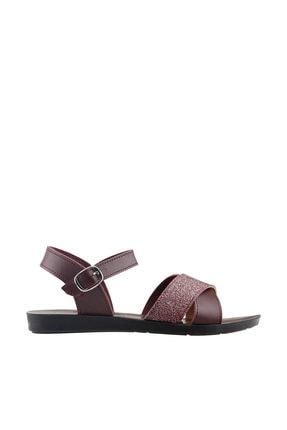 Ayakland Bordo Kadın Sandalet 19YAYAYK0000101