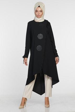 Sitare Kadın Siyah Önü Püsküllü Giy Çık 20K2284 20KGY20K2284