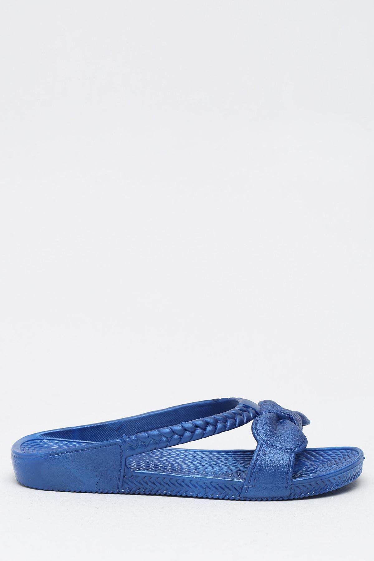Ayakkabı Modası Saks Mavi Kadın Terlik M9999-19-100230R