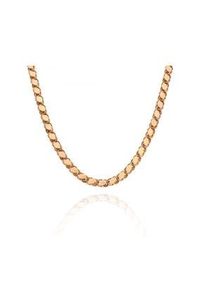 Pink Gold Store 60 cm Rose Altın Pullu Zincir