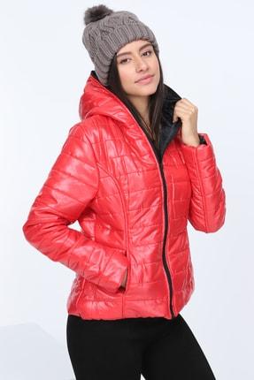 Patiska Kadın Kırmızı Şişme Mont PTSK-7151