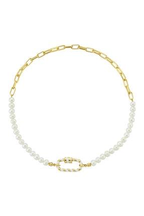 LUZDEMIA Locker Pearl Chain Necklace