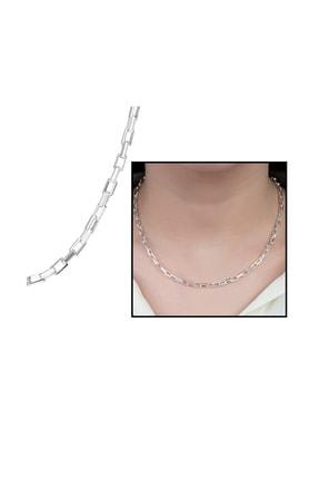 Tesbihane 925 Ayar Gümüş İtalyan Box Kadın Zincir Kolye 125000040