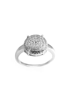 Tesbihane 925 Ayar Gümüş Beyaz Zirkon Taşlı Bayan Yüzük 102001327